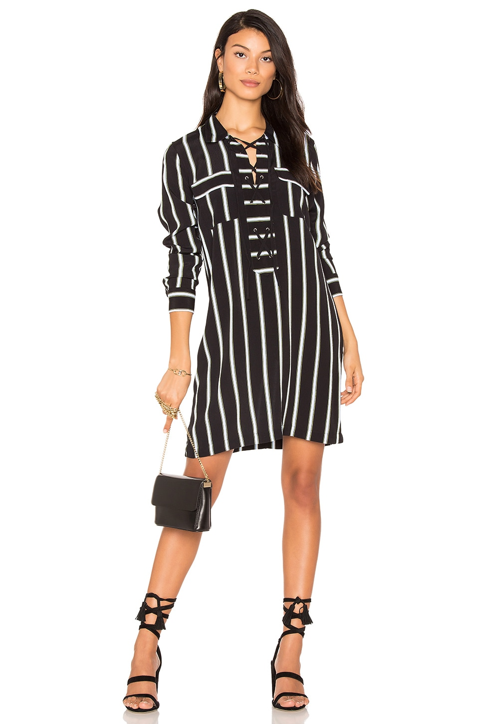 Lace Up Shift Dress by 1. STATE