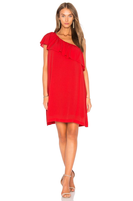 One Shoulder Ruffle Edge Dress