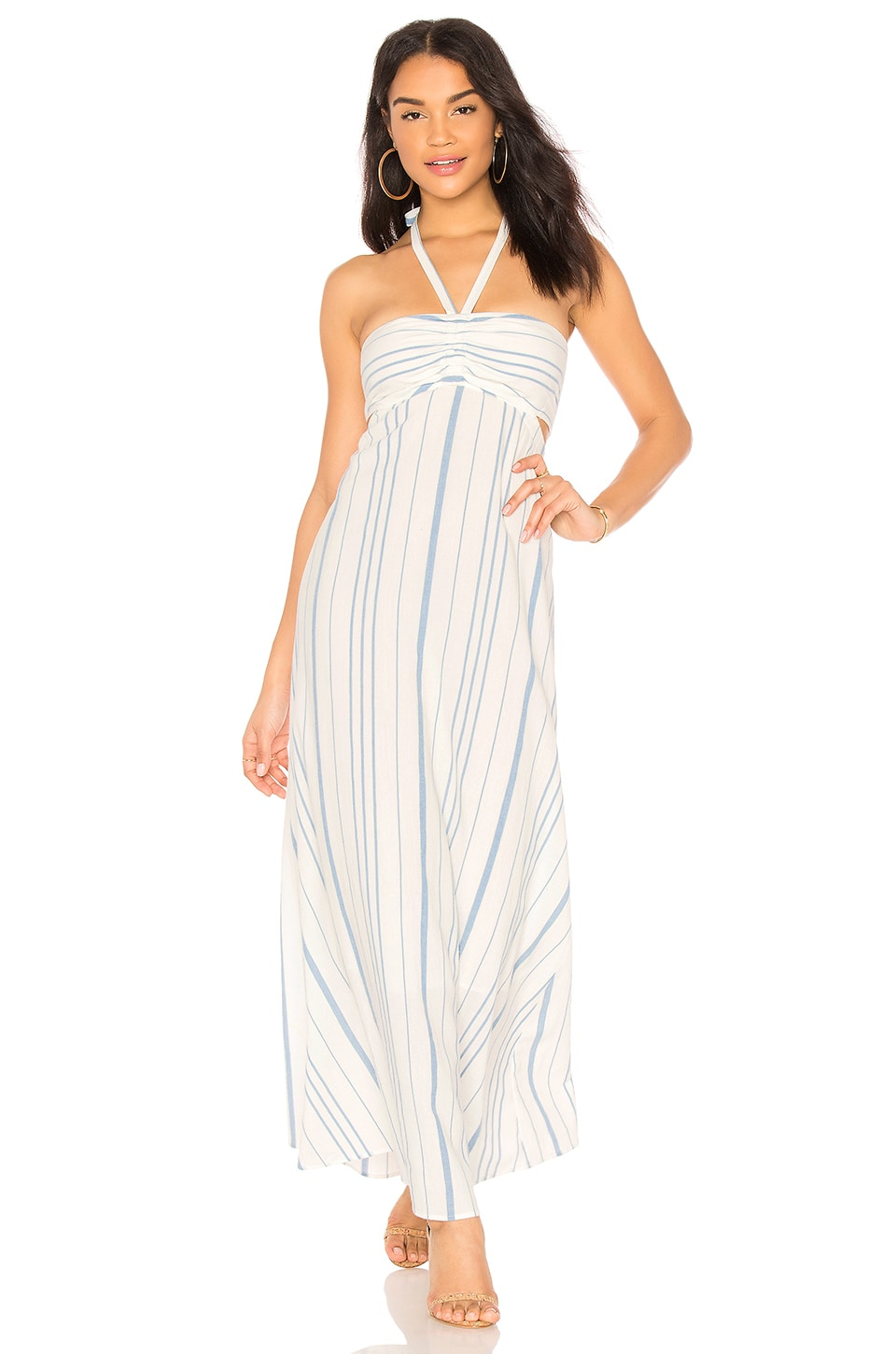 Cinched Bodice Maxi Dress