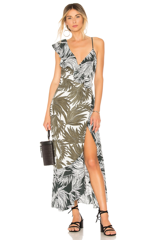 Ruffled Shoulder High Low Dress