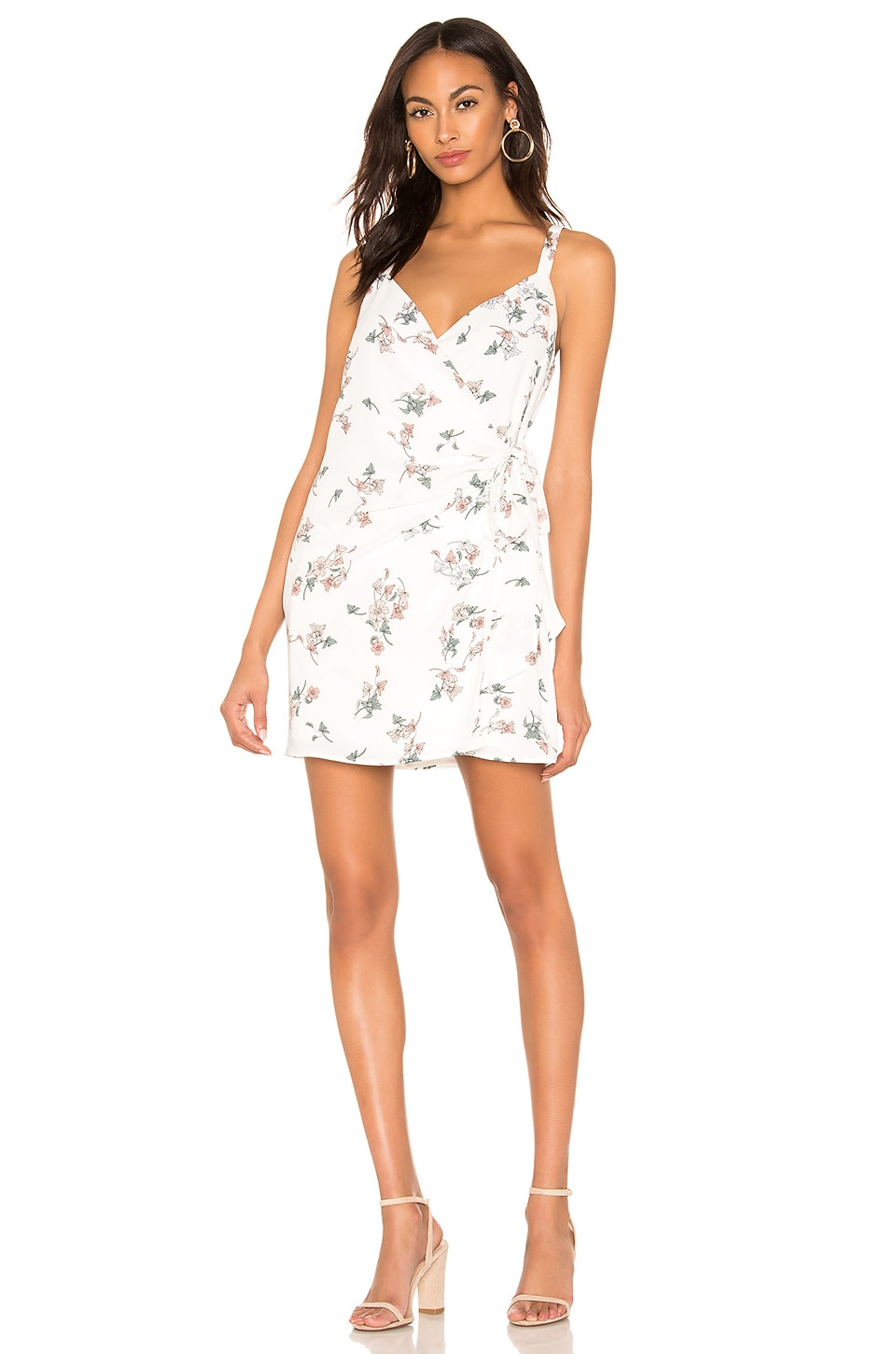 1. STATE Floral Belle Wrap Front Dress in Soft Ecru