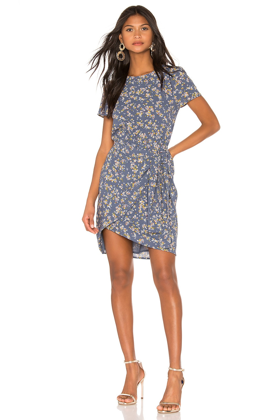 1. STATE Heritage Bouquet Tie Front Dress in Antique Blue