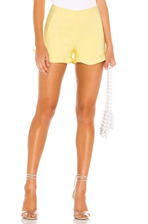 1. STATE Ruffle Hem Short in Honeysuckle