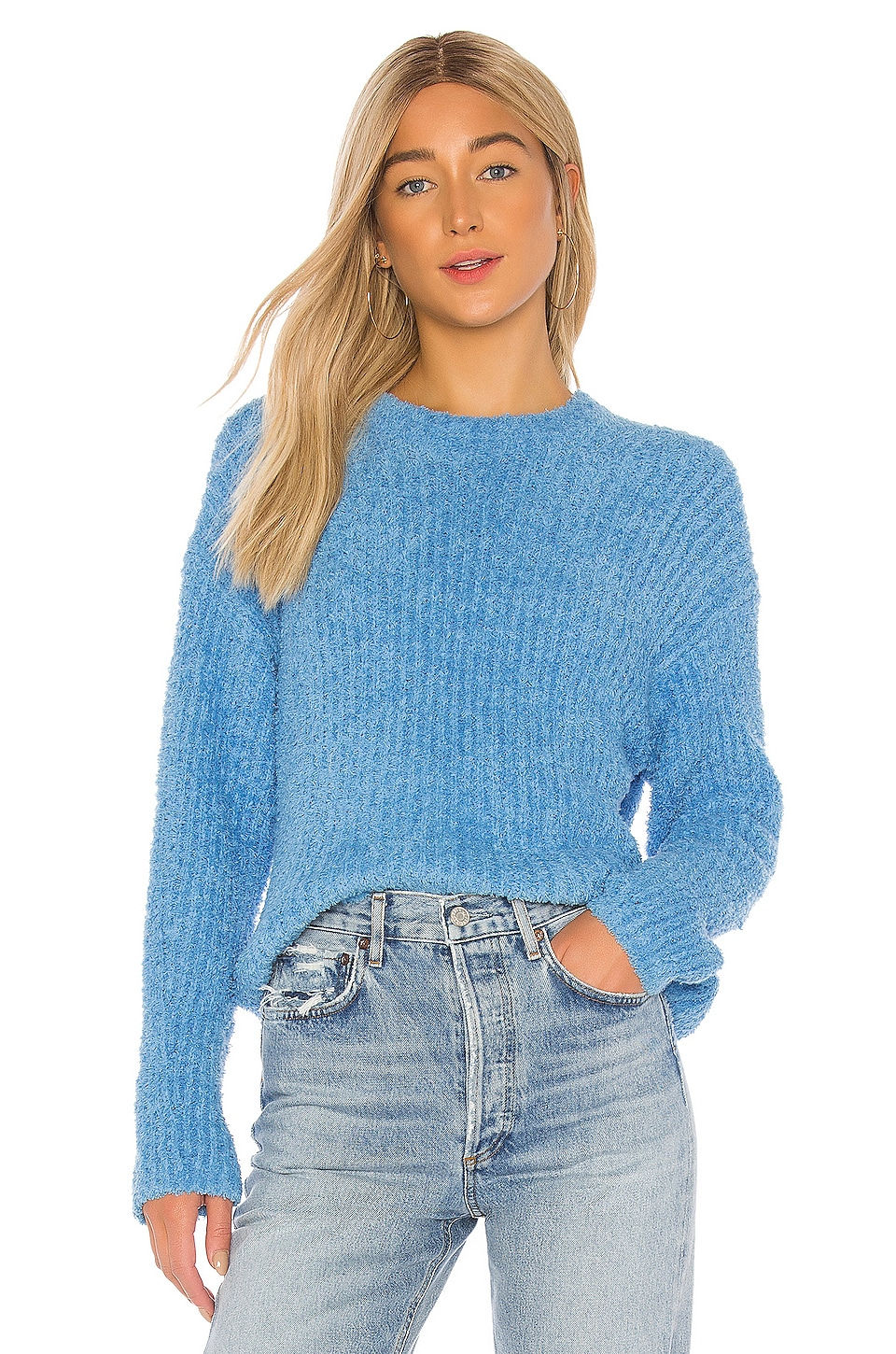 1. STATE Terry Yarn Sweater in Naples Blue