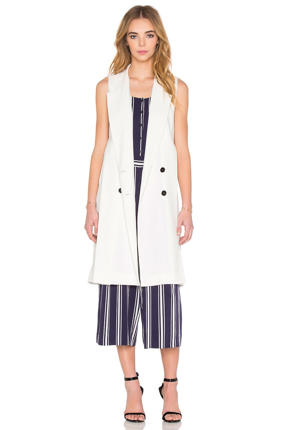 Double Breasted Trench Vest at REVOLVE