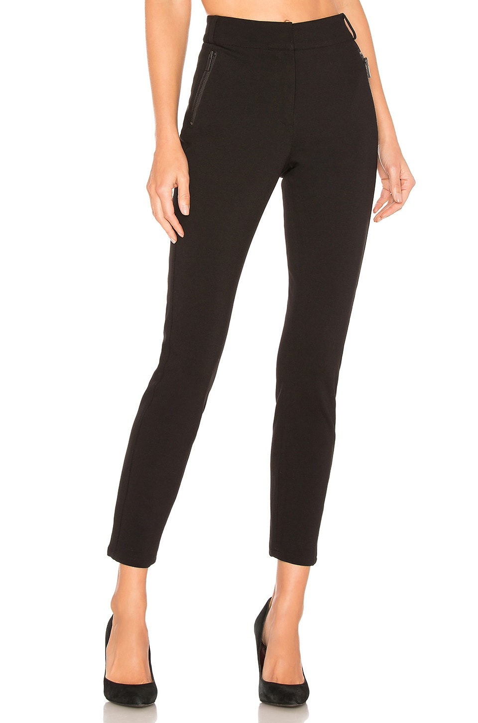 1. STATE Front Zip Pocket Pant in Rich Black