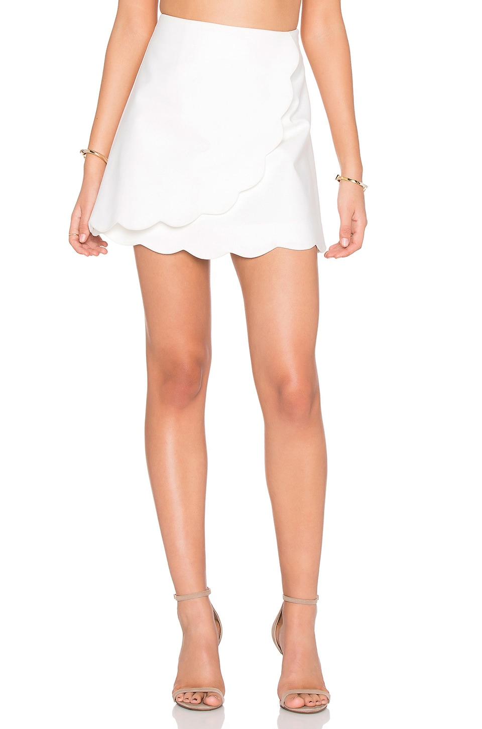 1. STATE Scalloped Edge Skirt in Cloud