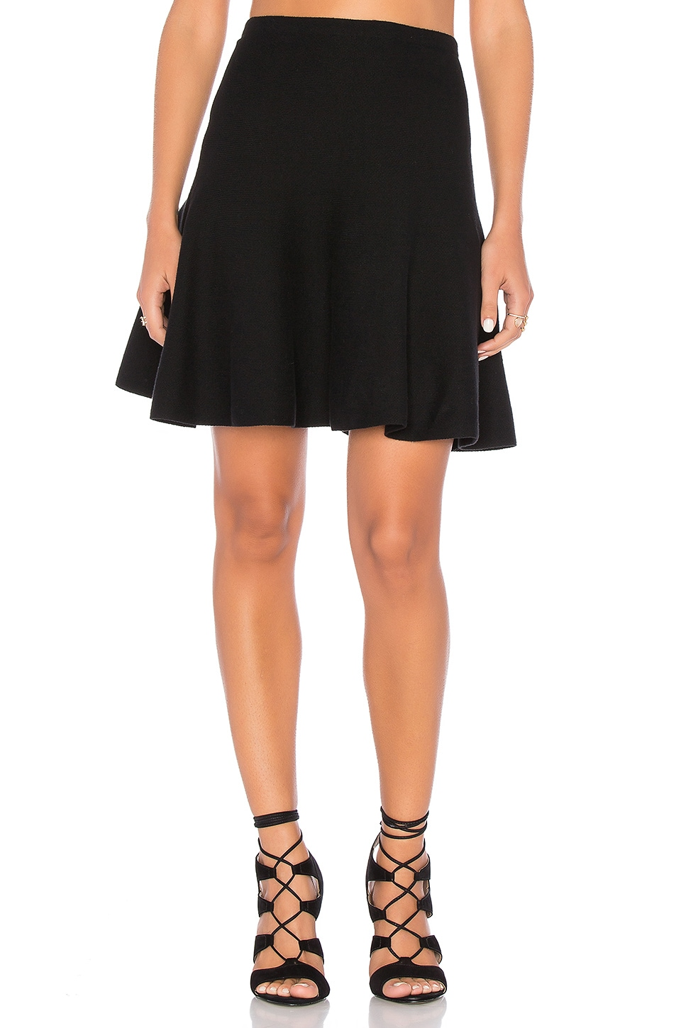 1. STATE Flounce Skirt in Rich Black