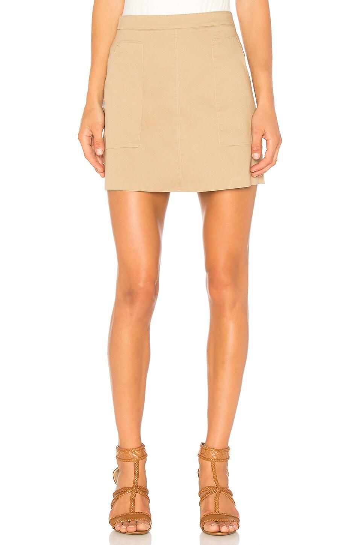 Patch Pocket A-Line Skirt