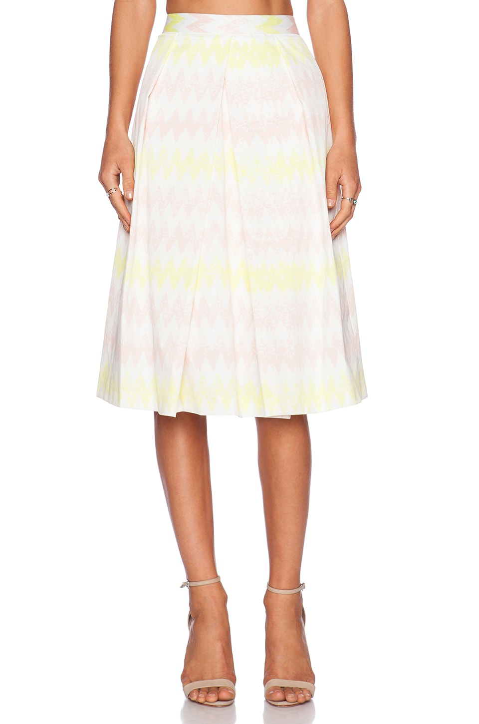 1. STATE Pleated Midi Skirt in Cameo Pink