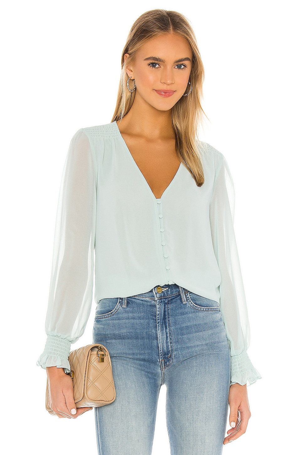 Smocked Detail Button Blouse             1. STATE                                                                                                       CA$ 124.64 4