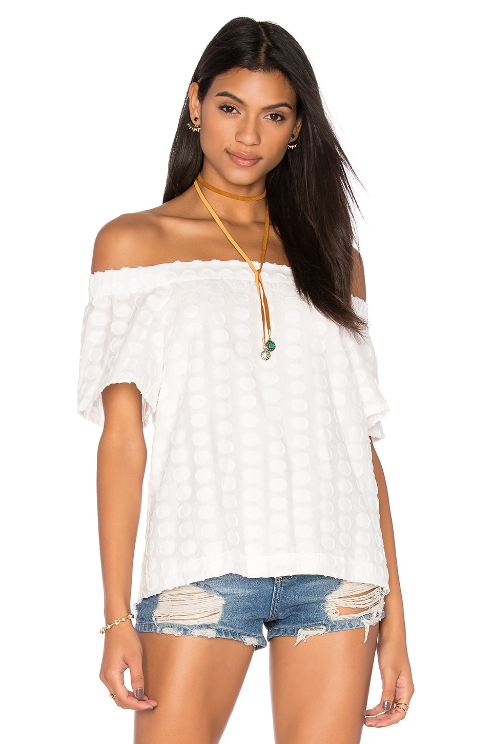 1. STATE Off Shoulder Blouse in Cloud