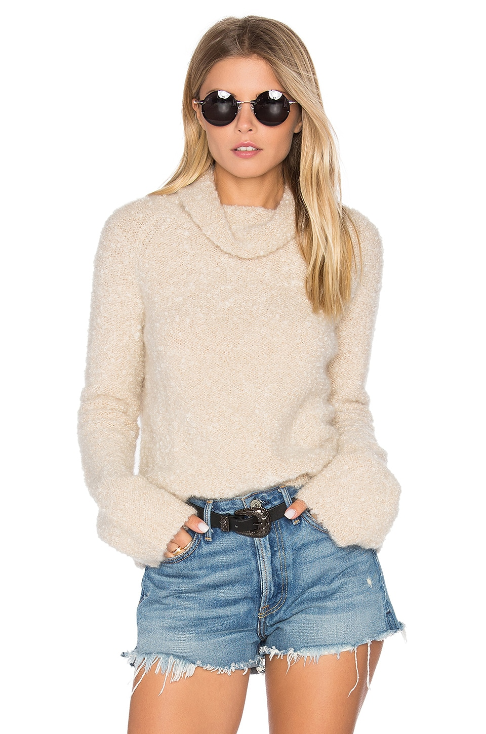 27 miles malibu Langely Sweater in Faune
