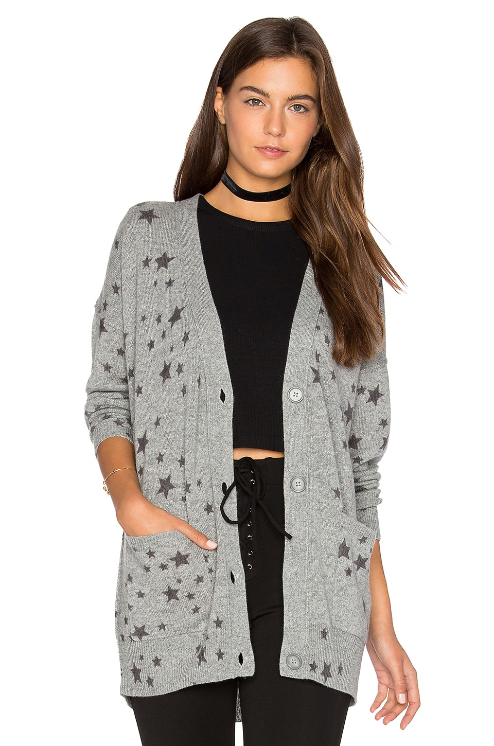 27 miles malibu Starry Oversized Cardigan in Pewter | REVOLVE