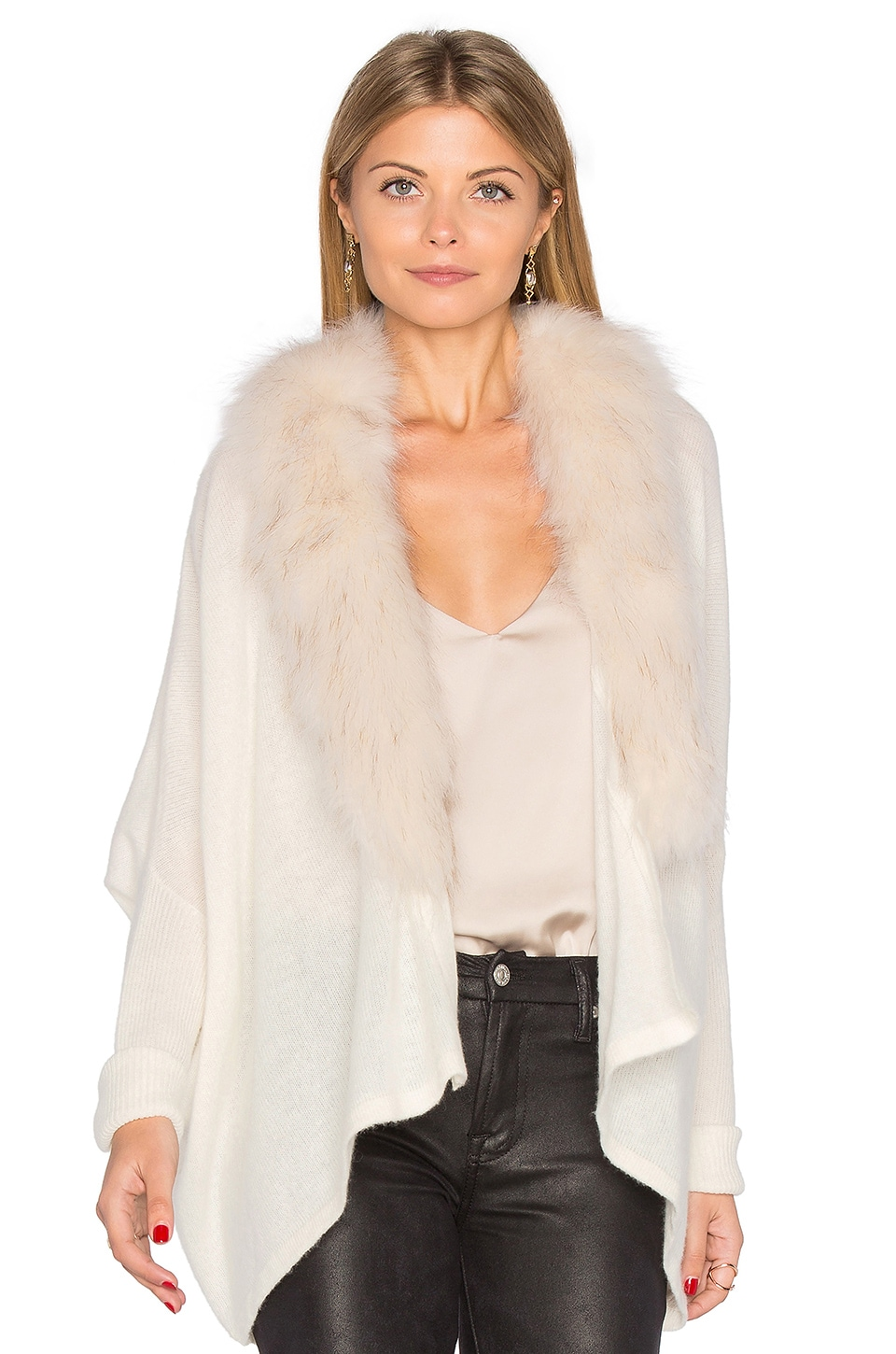 27 miles malibu Danica Faux Fur Jacket in Cloud & Beige