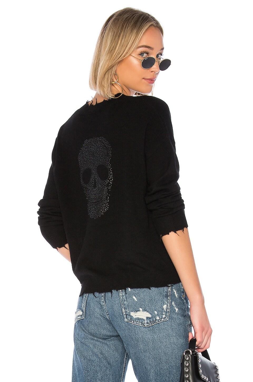27 MILES MALIBU Evanskull Sweater in Black
