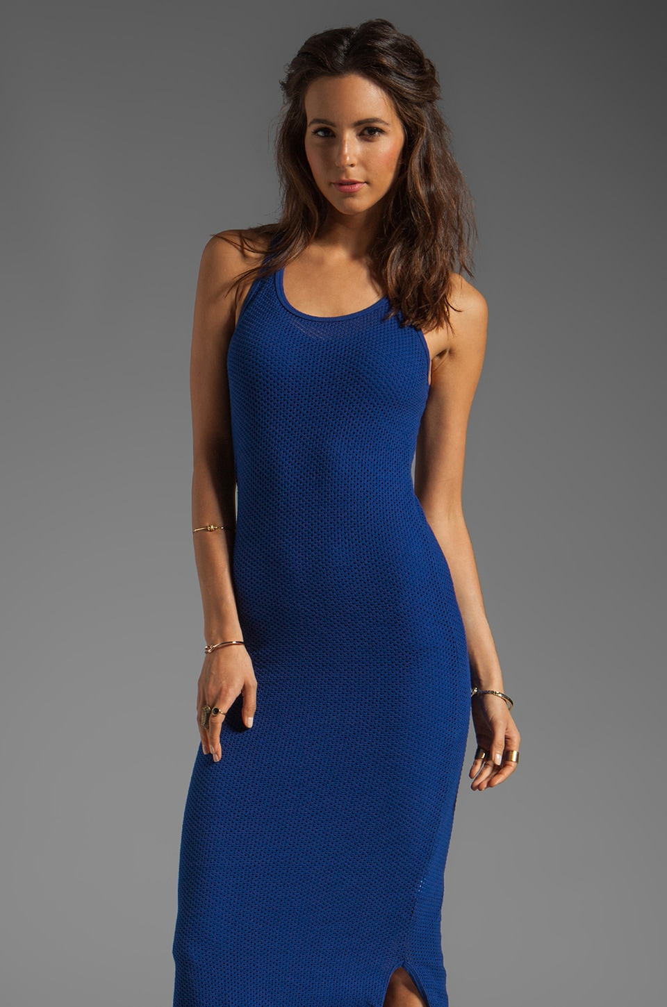 291 Circle Mesh Racerback Maxi Dress in Sapphire