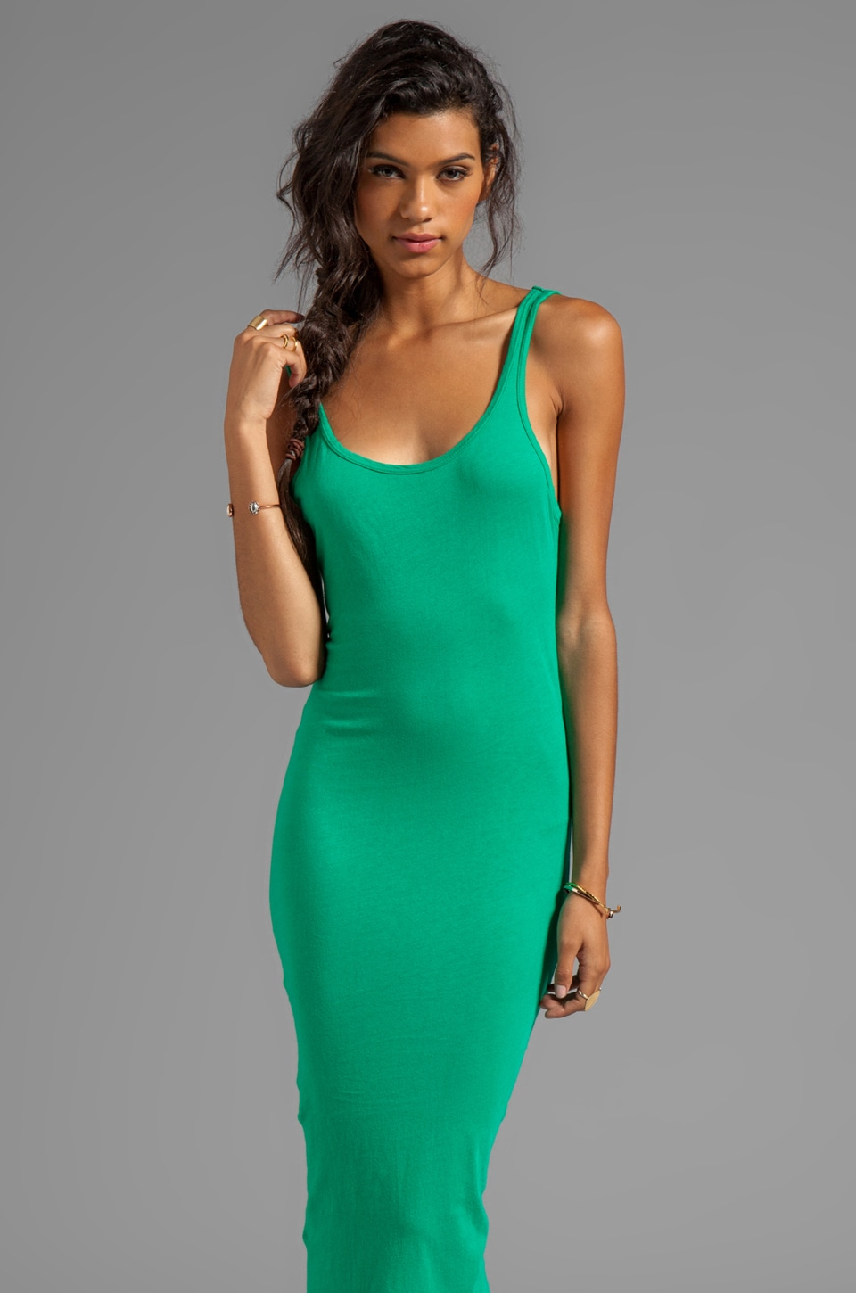 291 Scoop Back Dress in Rainforest
