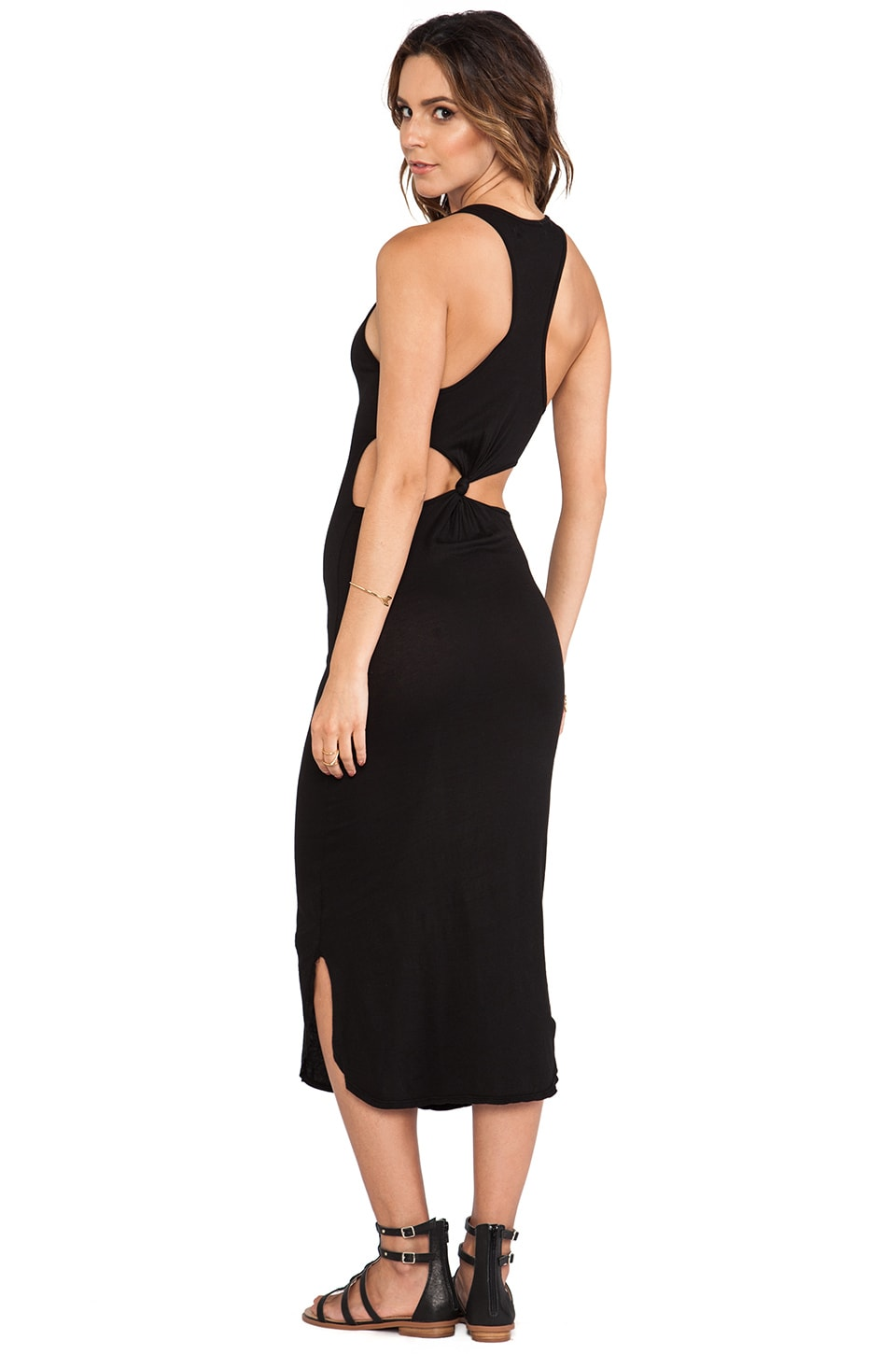 291 Back Knot Cut-Out Maxi Dress in Vintage Black