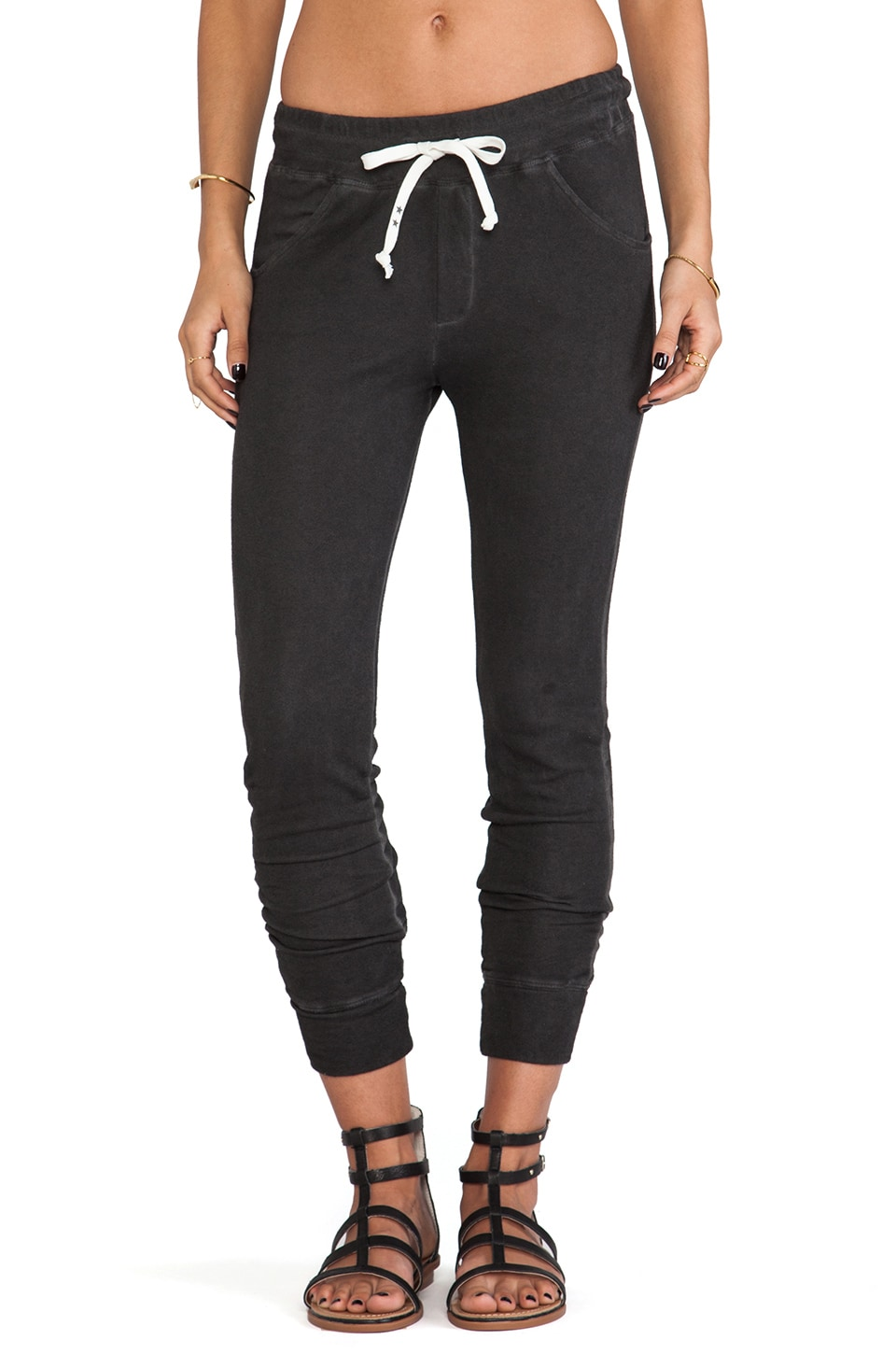 291 Relaxed Slouchy Sweatpant in Antique Wash Black