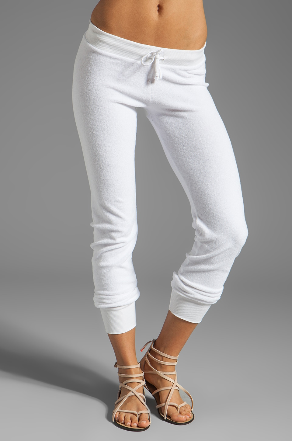 291 Slim Track Pant in White