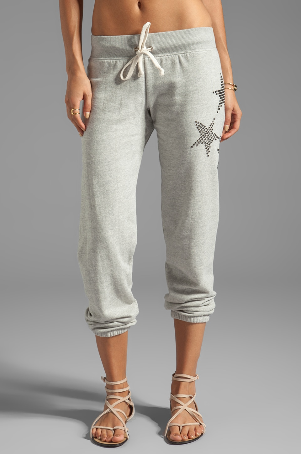 291 Stud Star Baggy Sweatpant in Heather Grey