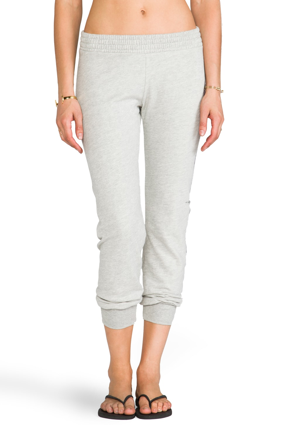 291 Bull Rose Slim Track Pant in Heather Grey