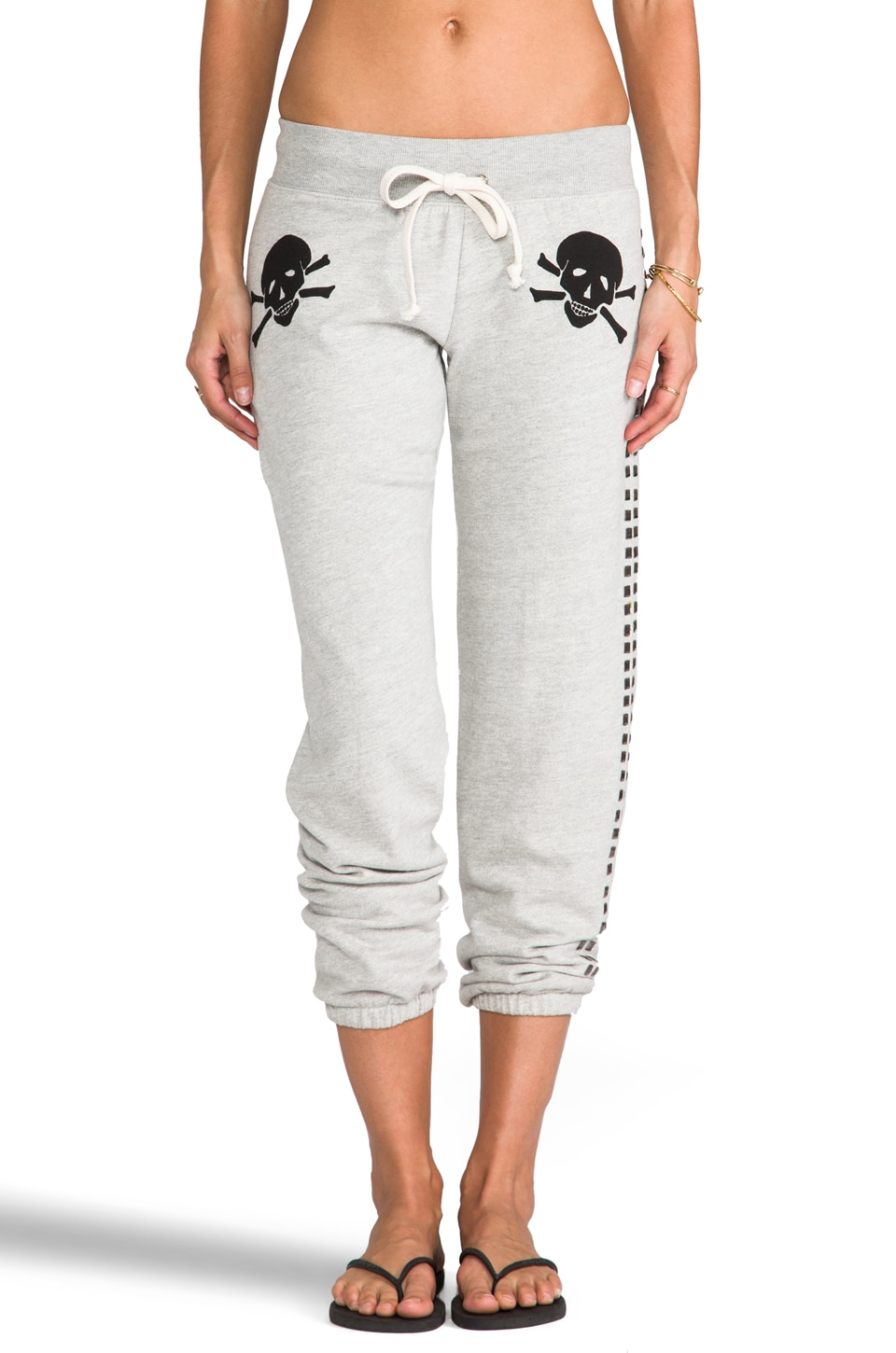 291 Skull Flag Baggy Sweatpant in Heather Grey