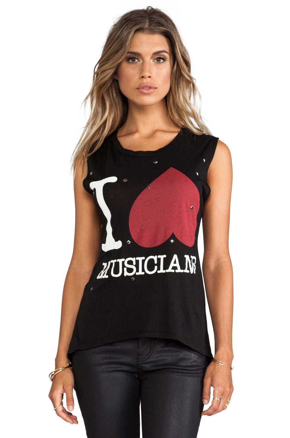 291 I Heart Musicians Muscle Tee in Black