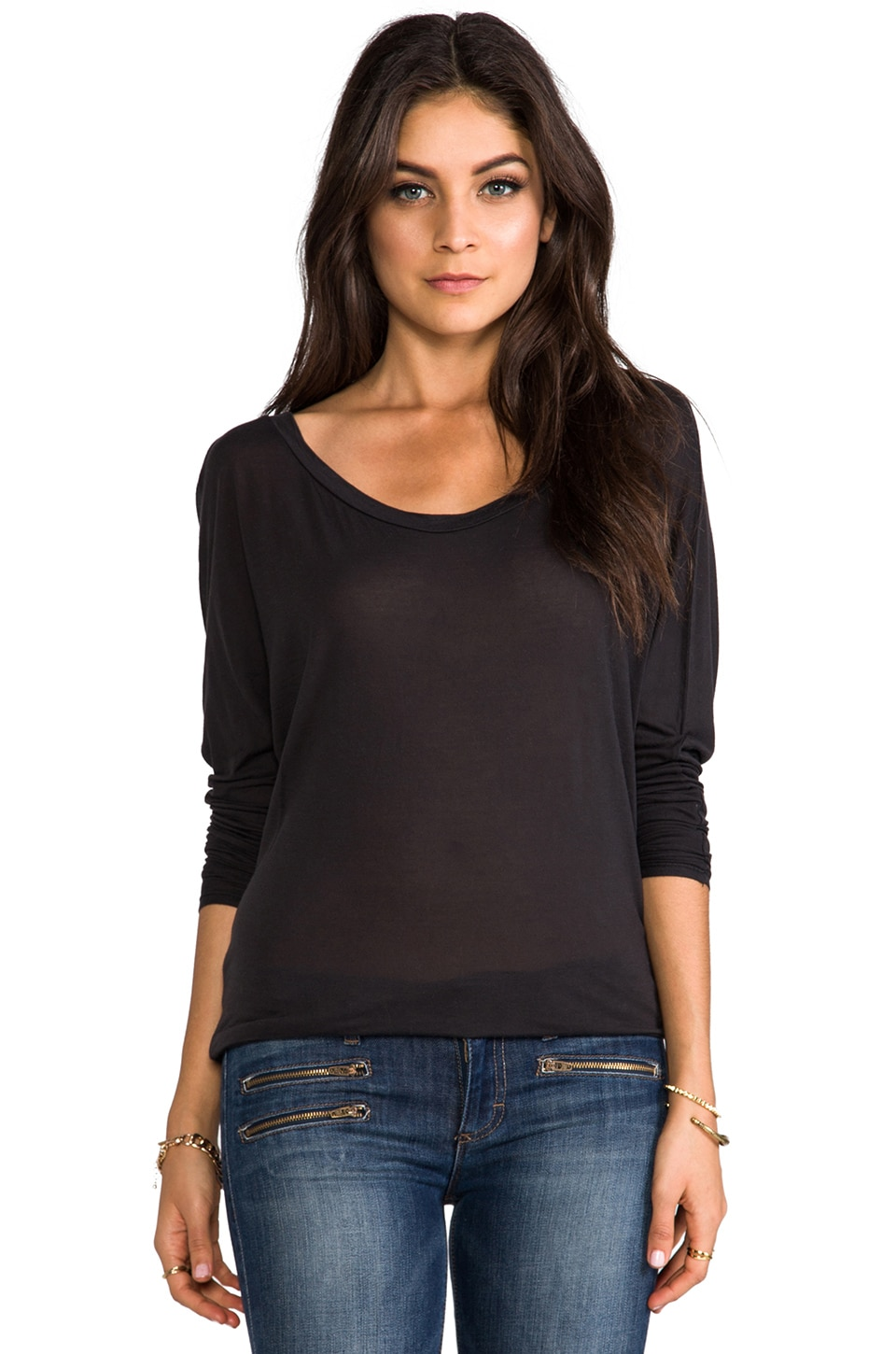291 Scoop Dolman in Vintage Black