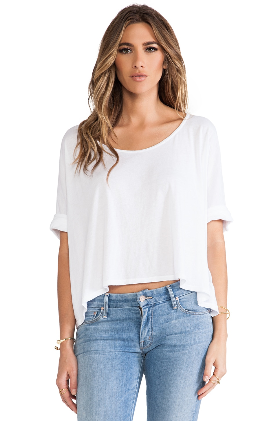 291 Boxy Cropped Tee in White