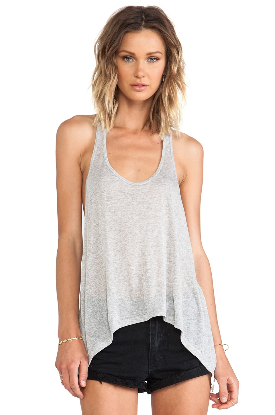 291 Fluid Racer Back Tank in Heather Grey