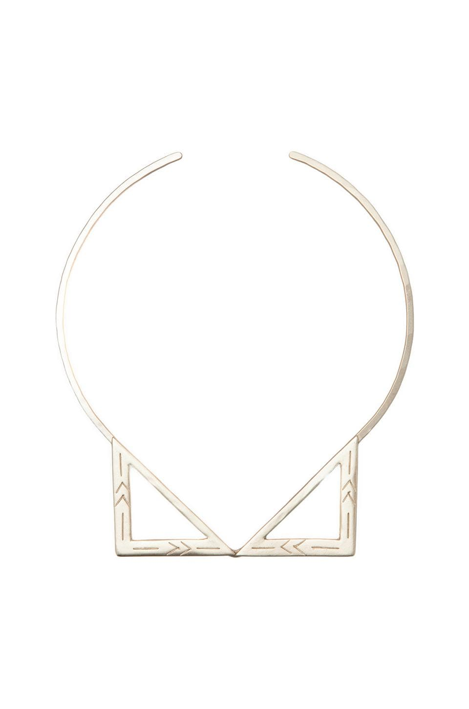 2 Bandits Two Step Collar Necklace in Gold