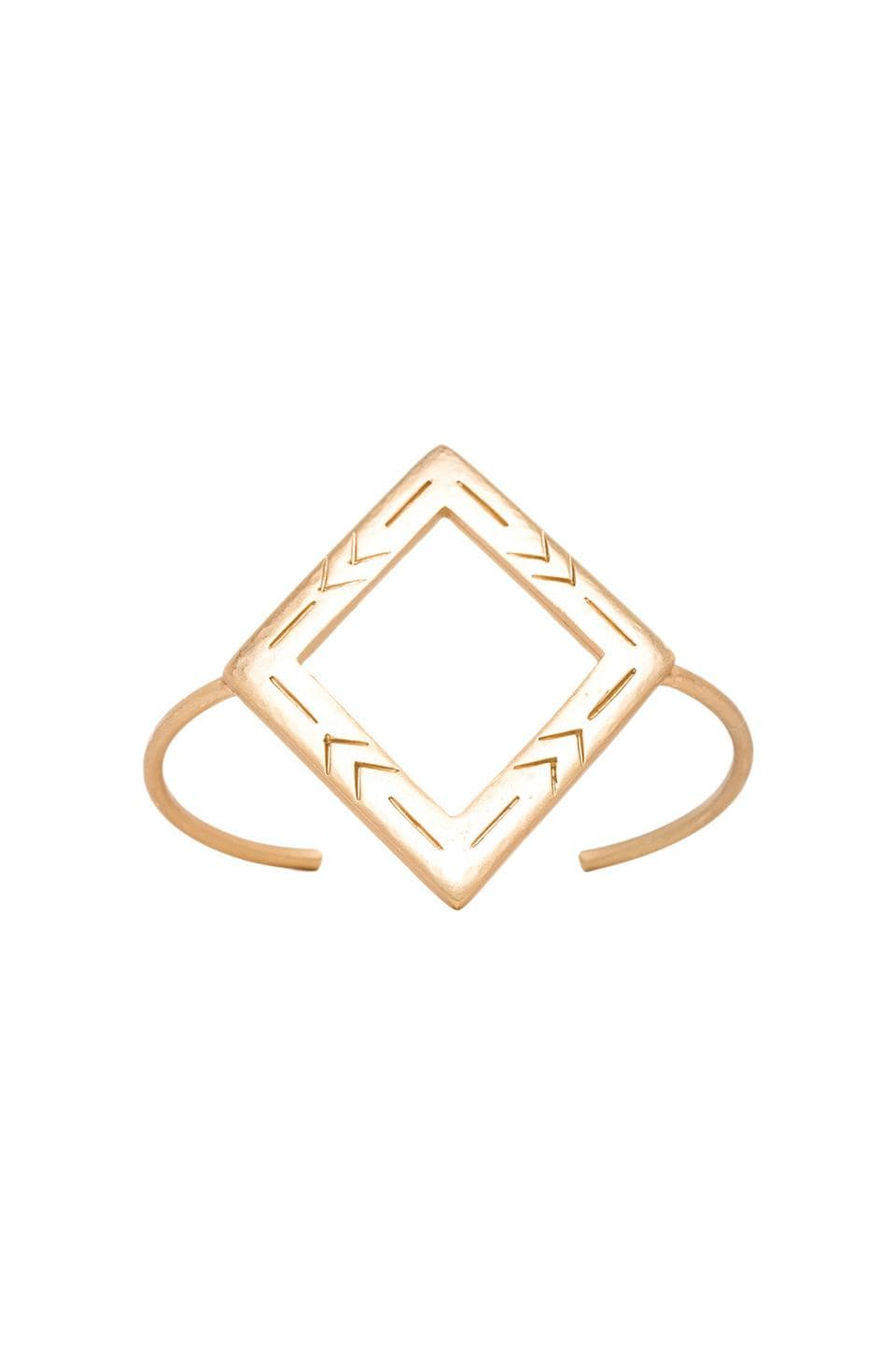 2 Bandits Two Step Diamond Cuff in Gold