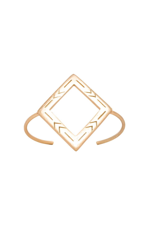 2 Bandits Two Step Diamond Cuff in Gold