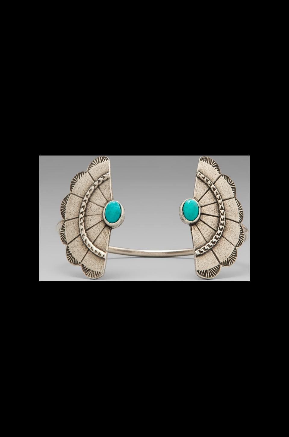 2 Bandits Concho Wing Cuff in Antique Silver