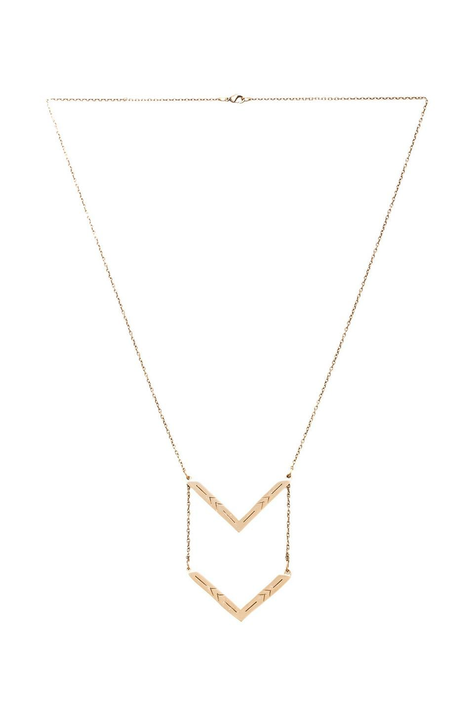 2 Bandits Two Step Pendant Necklace in Gold