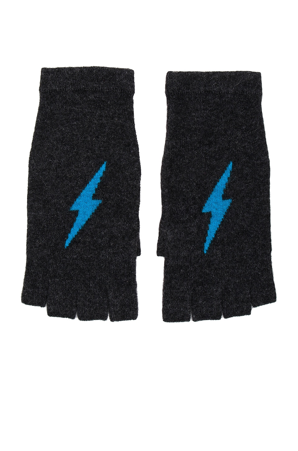 360 Sweater Tahlia Cashmere Gloves in Cinder & Mykonos Lightning Bolt