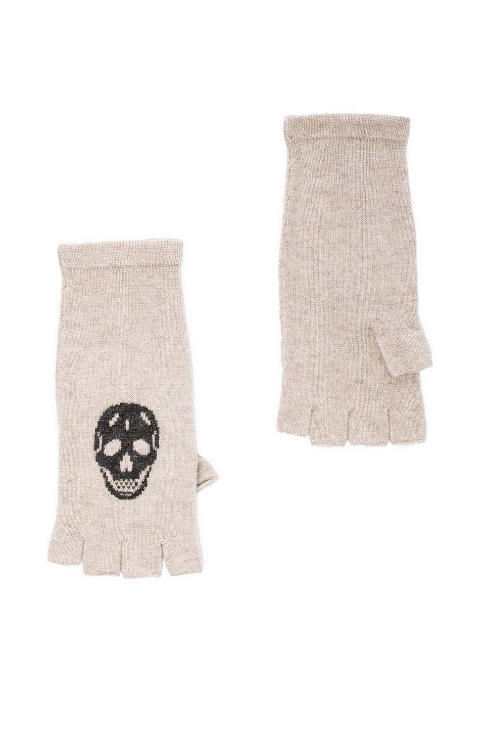 360 Sweater Skull Cashmere REVOLVE Exclusive Skull Glove in Bone & Smog