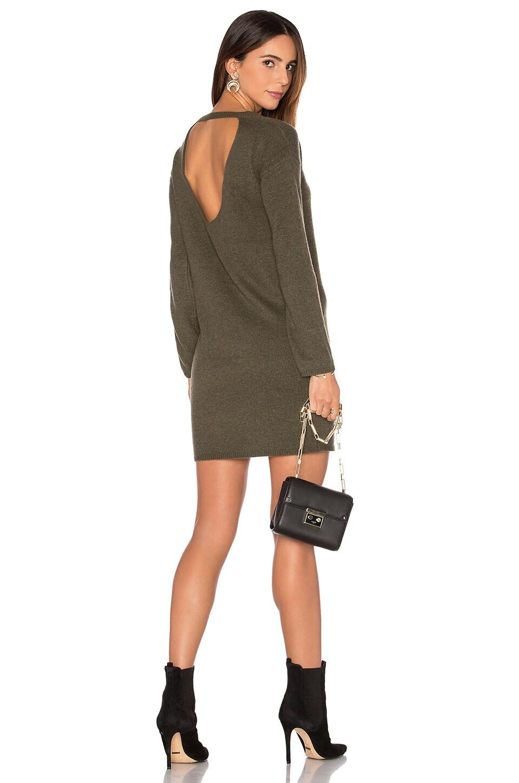 360CASHMERE Daniella Cashmere Sweater Dress in Loden