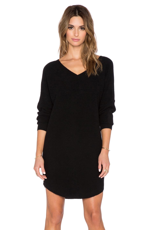 360 Sweater Dee Sweater Dress in Black