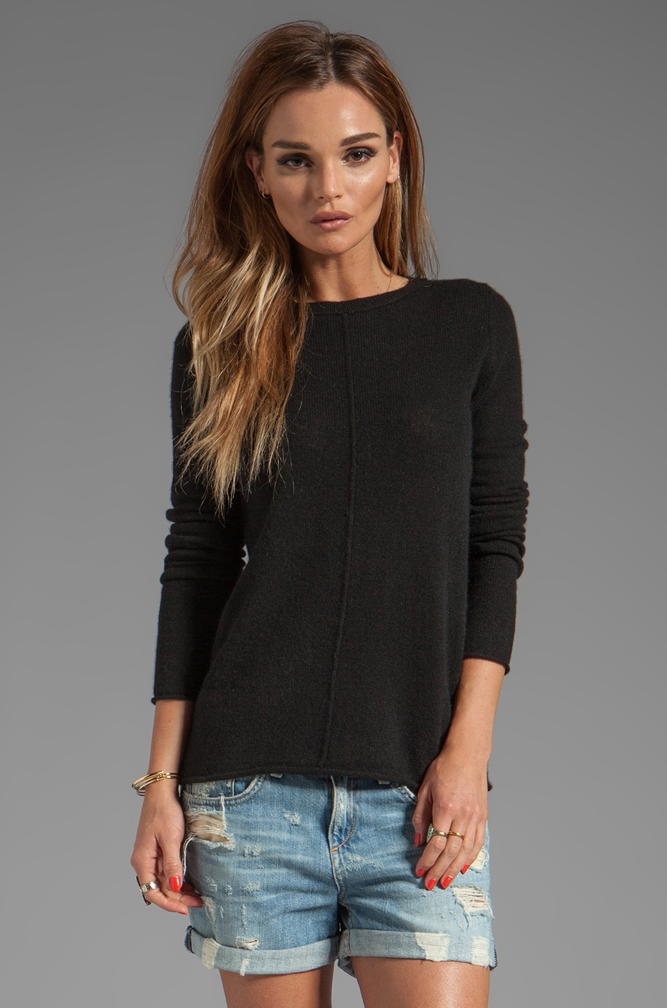 360 Sweater Bree Cashmere Pullover in Black