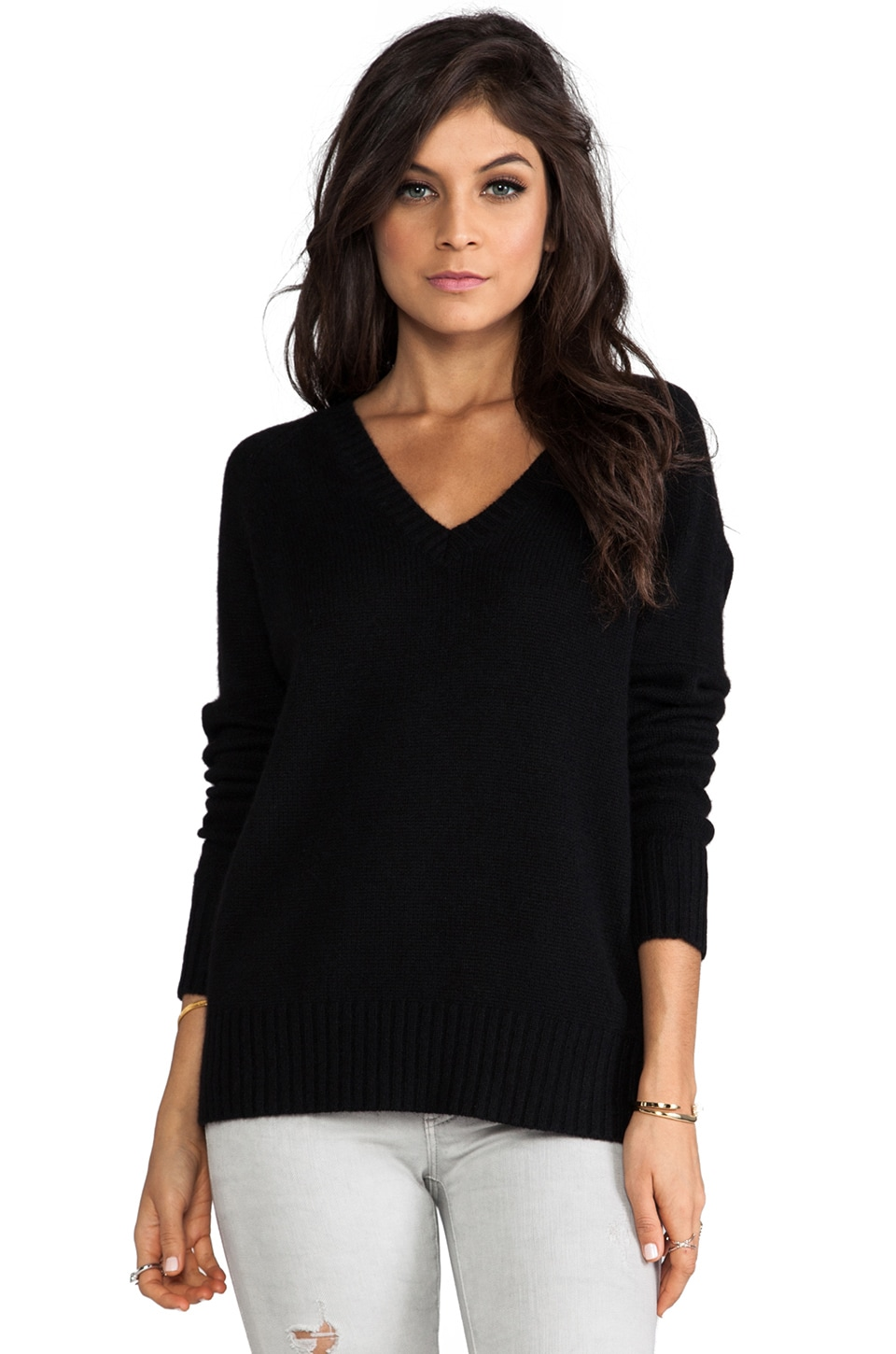 360CASHMERE Luci Cashmere Sweater in Black