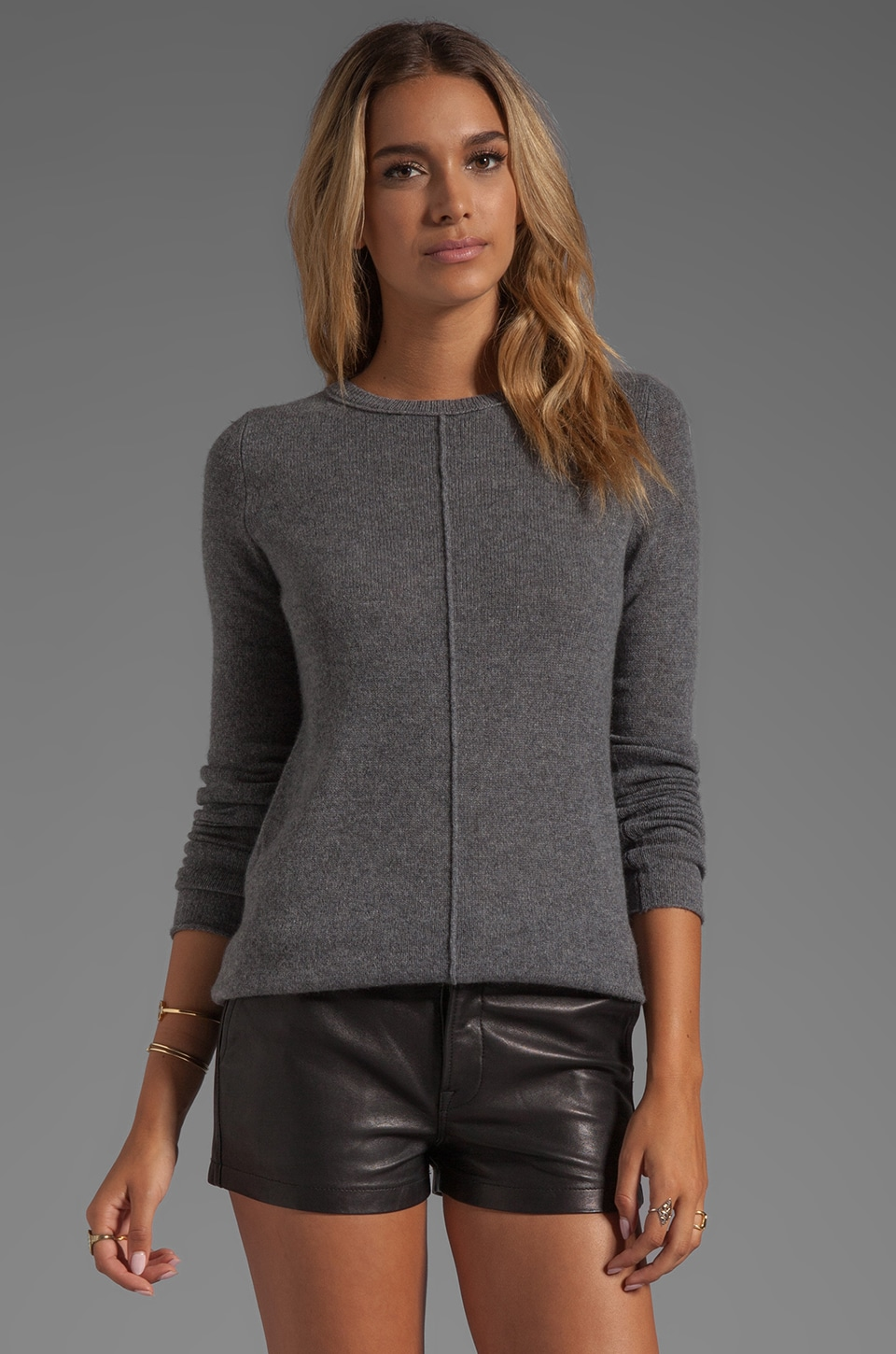 360 Sweater Bree Cashmere Pullover in Heather Grey