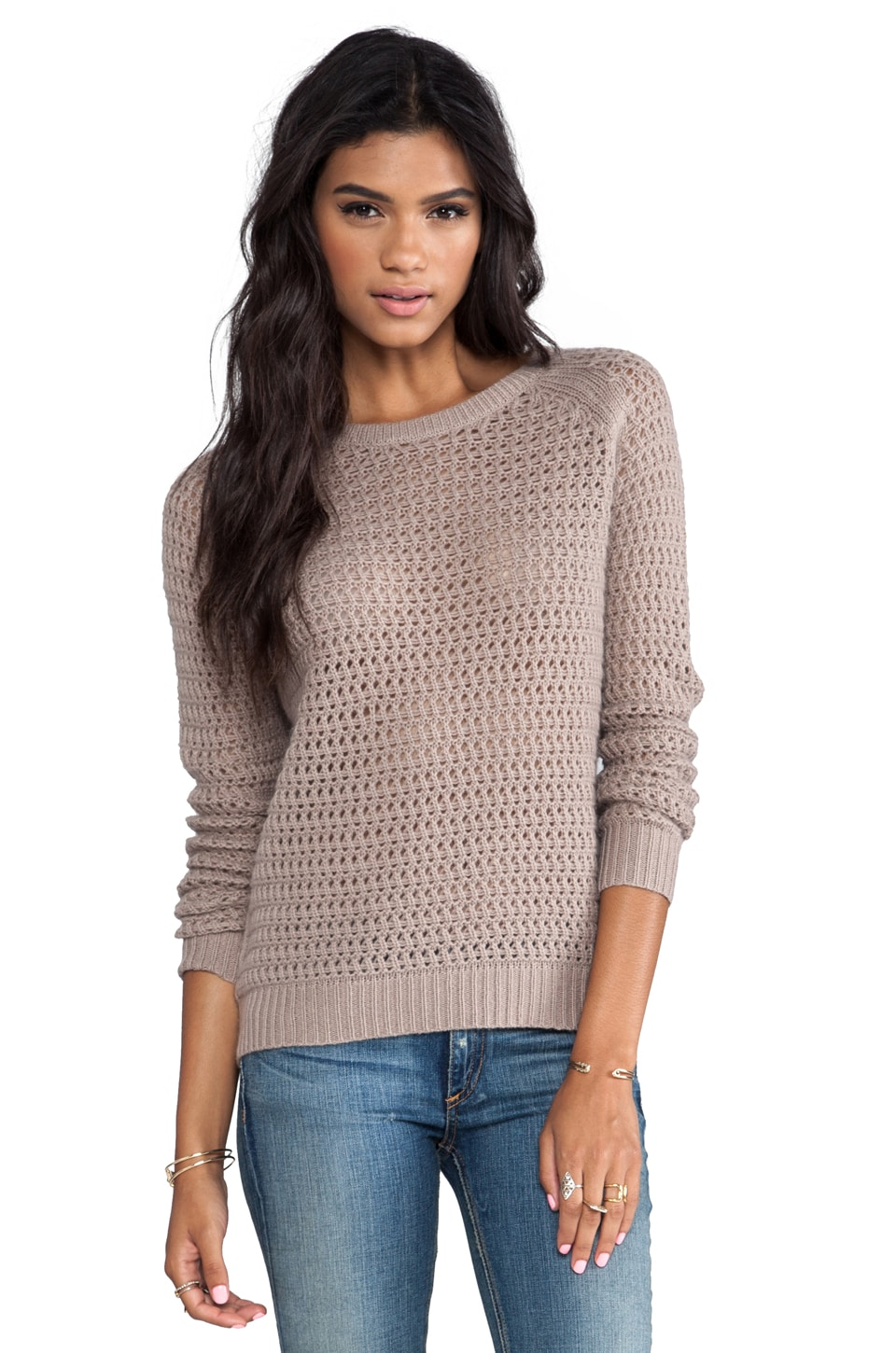 360 Sweater Laria Wool Cashmere Pullover in Almond