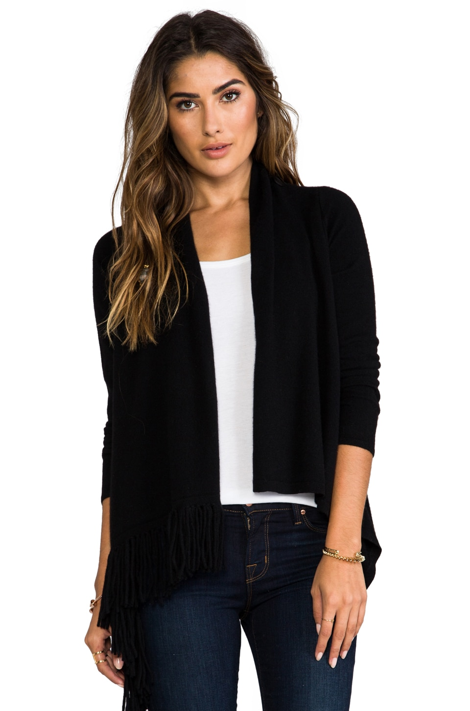360CASHMERE Izzy Cardigan in Black