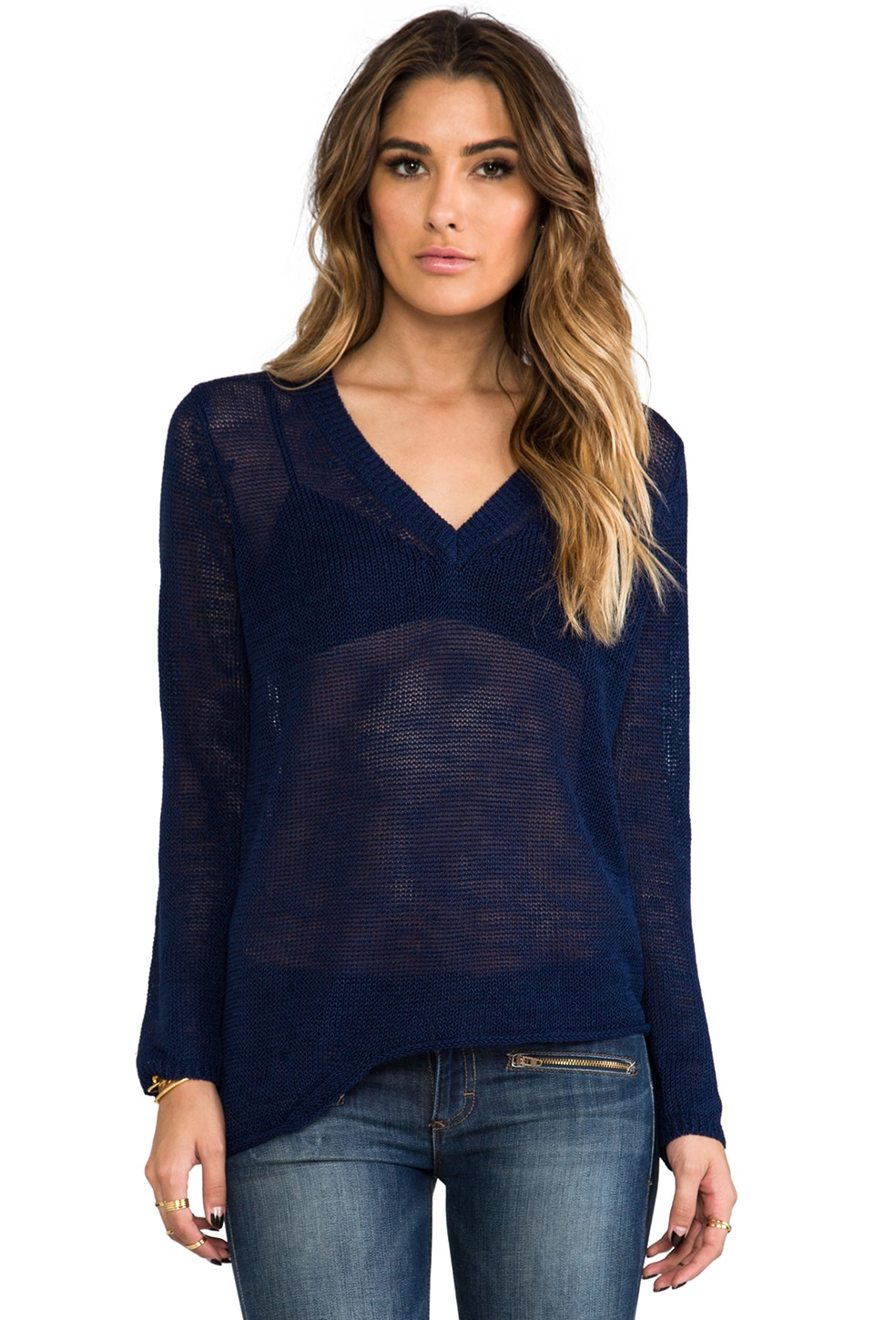 360CASHMERE Gaia Sweater in Indigo