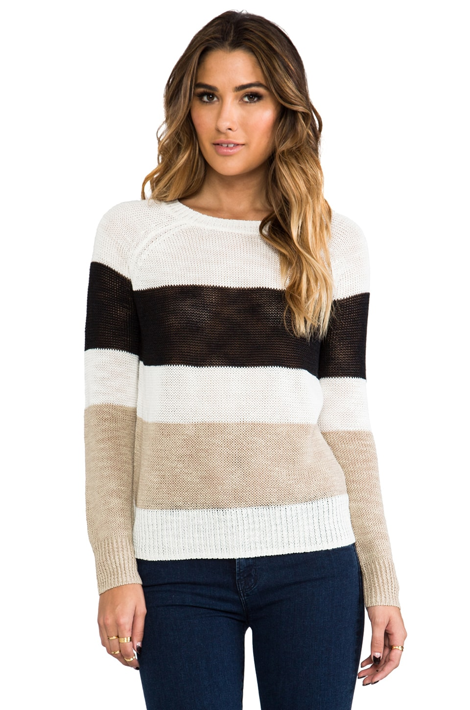 360 Sweater Nova Stripe Sweater in Multi