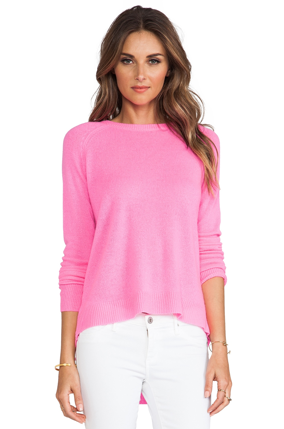 360 Sweater Gia Cashmere Sweater in Electric Pink