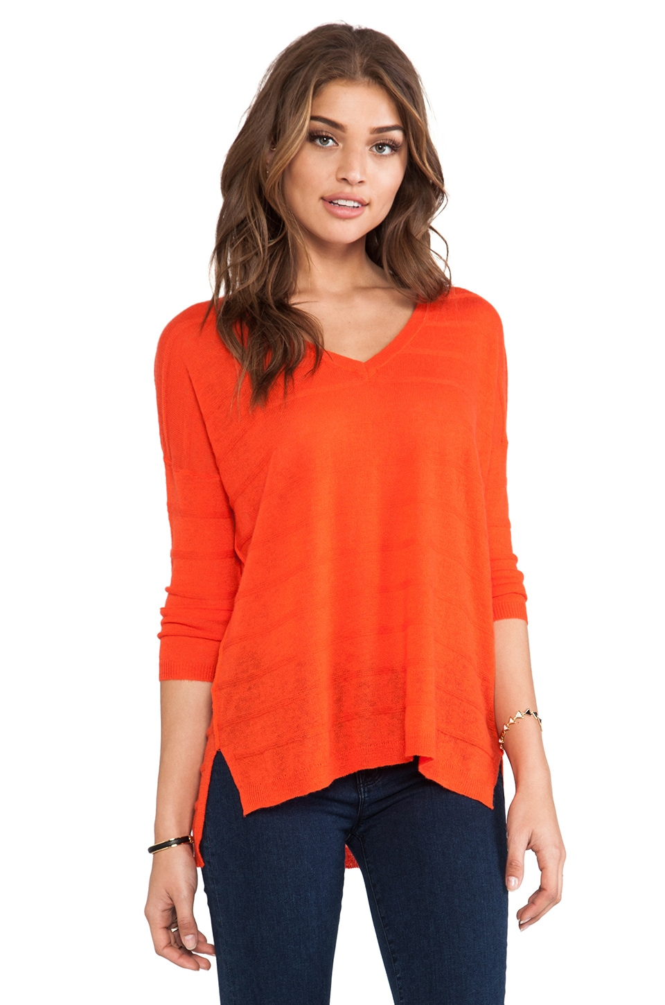 360 Sweater Evie Sweater in Orange Peel